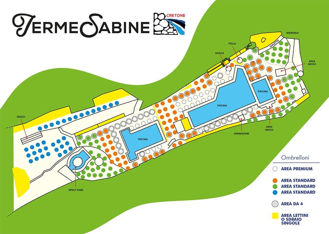 Mappa Aree Ombrelloni